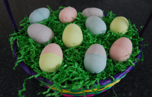 steps for making easter egg bath fizzes