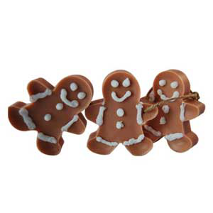 Gingerbread Men Wax Ornaments