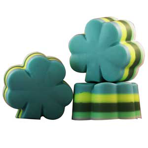 4 Leaf Clover Layered Soap Recipe