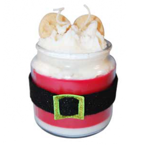 Santa Whiskers Candle