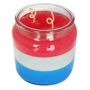 Fourth of July Triple Layer Candle Recipe