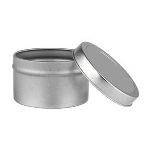 Deep Round Tin with Lid 4 oz.