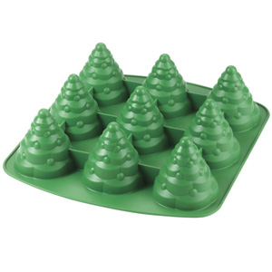 Silicone Soap Mold- 9 Cavity 3D Trees