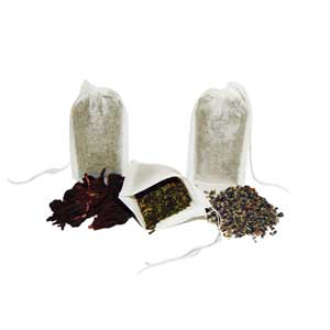 Fillable Bath Tea Bags with Pull Strings
