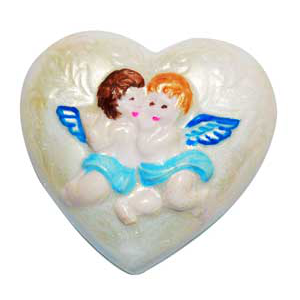 Soap Mold - Hearts with Angels