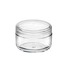 Clear Jar with NATURAL Lid  Set 6 ml.