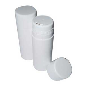 7 oz. White POWDER Sifter Bottles- 3 pc Set