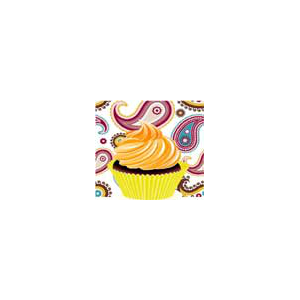 Free Paisley Cupcake Wrappers