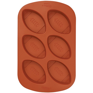 Silicone Soap Mold- 6 Cavity Football