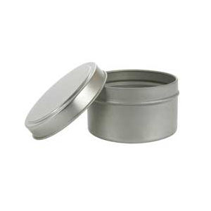 Deep Round Tin with Lid 6 oz.