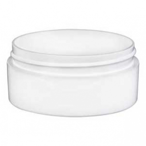2 oz. White LOW PROFILE Jars