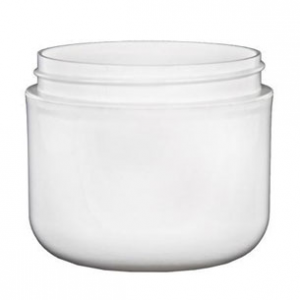 4 oz. White Double Wall Jar