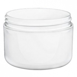 8 oz. White Double Wall Jar
