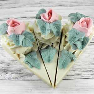 Dandi Creations Smellin' Like a Rose Soap Cake Slice