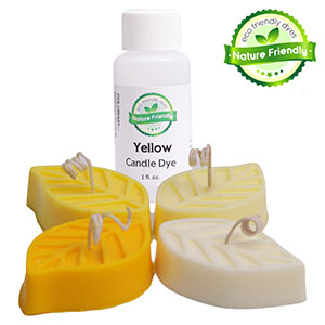 Yellow Nature Friendly Liquid Candle Dye 1 fl oz